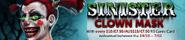 Sinister Clown Mask promotional banner