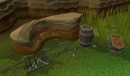 Red sandstone mine depleted