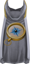 Hooded Quest point cape detail