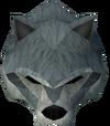 Werewolf mask (dark grey, male) detail
