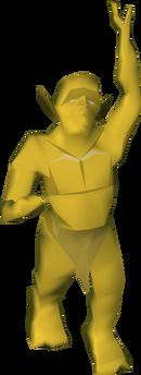 Golden goblin detail