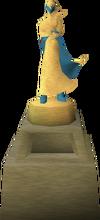 Een standbeeld van Elidinis.