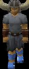 Warrior helmet worn old