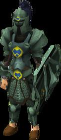 Adamant heraldic armour set 3 (sk) equipped