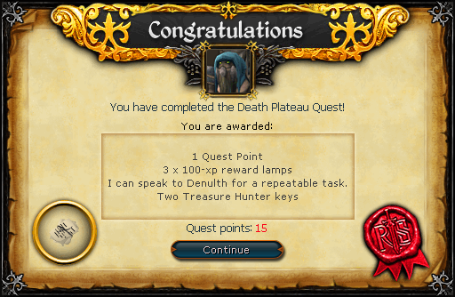 Death Plateau reward