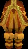 Golden mining trousers detail