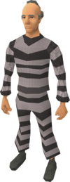 Prison uniform equipped