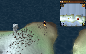 Scan clue Fremennik Isles just north-west of eastern cave on northern snowy island
