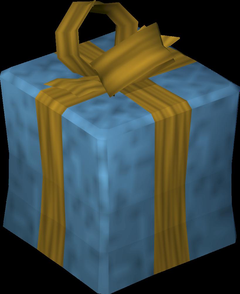 Christmas present (blue) detail