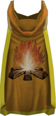 Hooded firemaking cape (t) detail