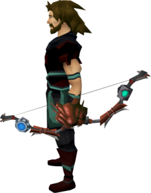 Augmented strykebow equipped