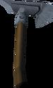 Steel hatchet detail