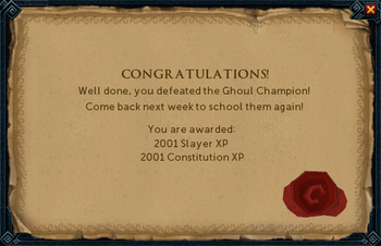 Ghoul Champion reward