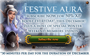 Festive Aura in-game ad