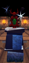 Emerald statuette plinth