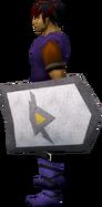 Steel kiteshield (Dorgeshuun) equipped