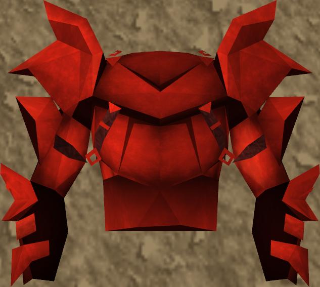 Et detaljert bilde av Dragon Platebody.