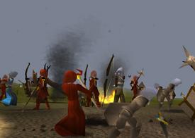 De strijd om Annakarl in het jaar 3100 van de 3th age/god wars