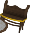 Gilded bench built
