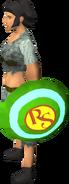 Superhero shield equipped