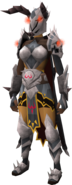 K'ril's Godcrusher armour equipped (female)