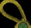 Dazzling four-leaf clover necklace