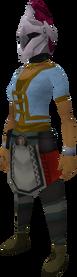 Rune heraldic helm (Dragon) equipped