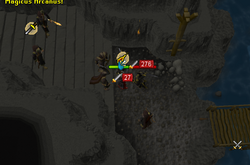 Black Knights' Catacombs combat