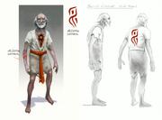 Defiant old man concept art