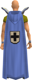 Retro hooded defence cape equipped