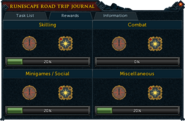 RuneScape Road Trip journal (2015) rewards