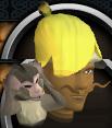 Hear-no-evil monkey hat chathead