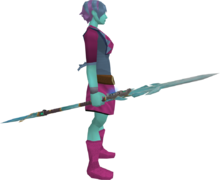 Augmented attuned crystal staff equipped