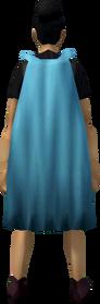 Fremennik cloak (cyan) equipped