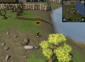 Scan clue Piscatoris Hunter area south of tunnel entrance to Piscatoris Fishing Colony