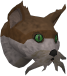 Wily cat (white and brown) chathead