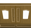 Carved teak magic wardrobe