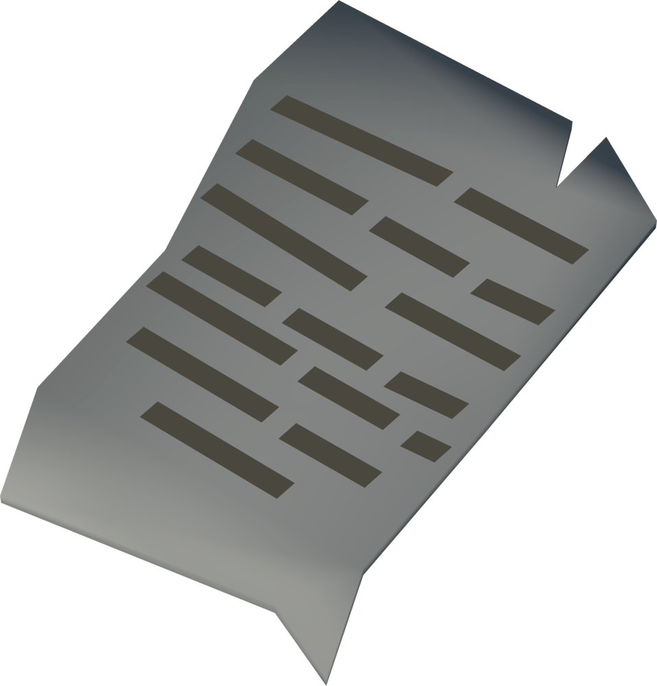 Lyric sheet detail