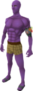 Purple skin equipped