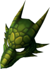 Green dragon mask detail