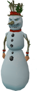 Snowman outfit equipped