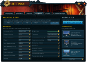 Settings (Graphics) interface