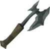 Off-hand kratonite battleaxe detail