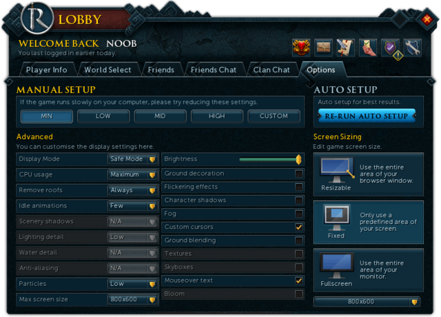 File:RuneScape Lobby Options.png