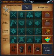 Death Lotus Training interface