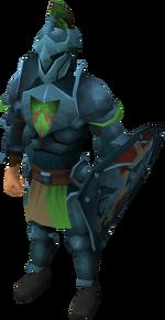 Rune heraldic armour set 4 (lg) equipped