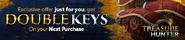 Double keys promo lobby banner
