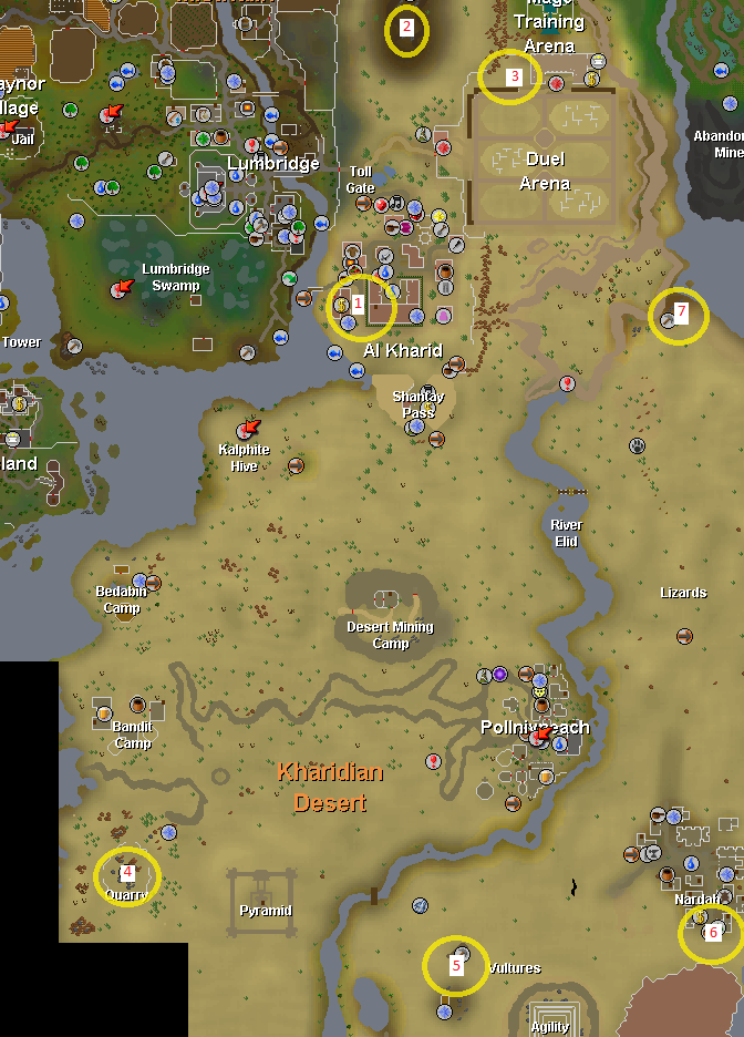 Image  Shooting stars rgn map Kharidian desertpng  RuneScape