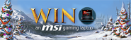 Win an MSi gaming laptop lobby banner