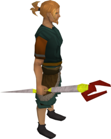 Zamorak staff equipped